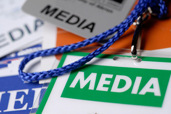 Media passes (Photo: OSCE)