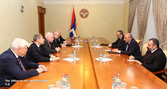 OSCE Minsk Group Co-Chairs meet Artsakh officials on March 28, 2017 in Stepanakert (Photo: President of the Artsakh Republic)