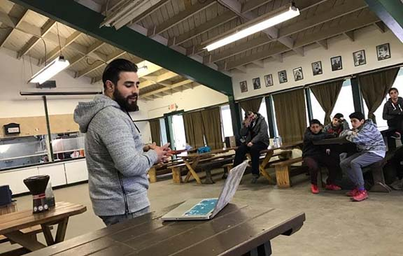 "AYF San Fernando Valley ""Sardarabad"" member Harut Minasyan gives lecture to Juniors"