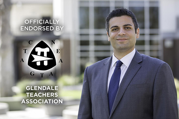 Glendale Teachers Association endorses Shant Sahakian for Glendale School Board District D