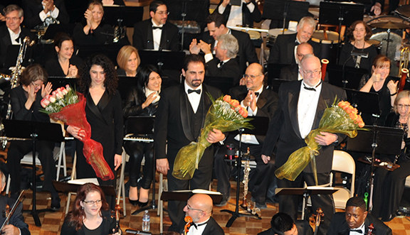 Soloists Shoushik Barsoumian, Yeghishe Manucharyan and Edward Levy