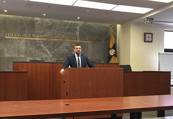Dr. Ümit Kurt speaks at George Washington University Law School
