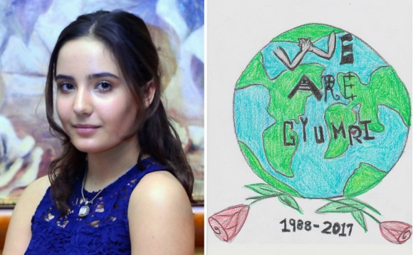 "Winner of the ""We Are Gyumri"" T-Shirt contest Tveen Sherbetjian"