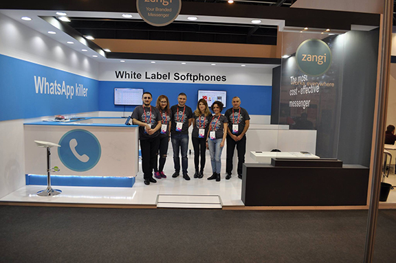 Zangi team representing Armenia in the rocks in the 2017 Mobile World Congress in Barcelona on March 2, 2017 (Photo: Zangi Facebook Page)