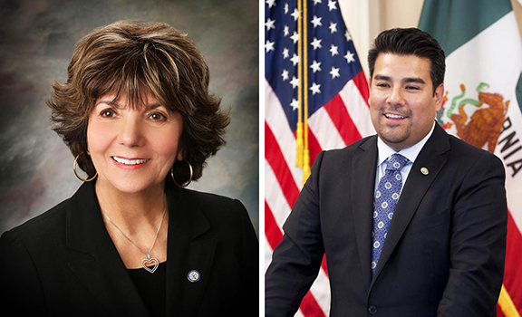 Glendale Mayor Paula Devine and Calif. State Senator Ricardo Lara endorsed Zareh Sinanyan