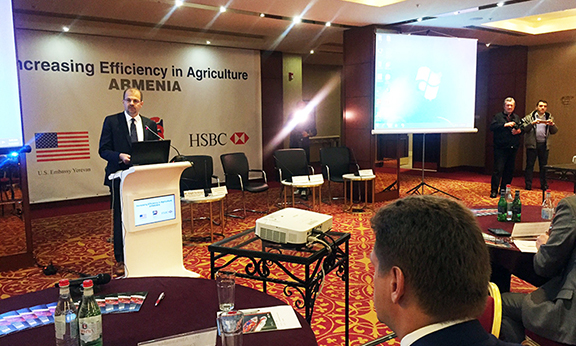 Chargé d'Affaires a.i. of the U.S. Embassy Rafik Mansour addressing the attendees (Photo: U.S. Embassy of Armenia)