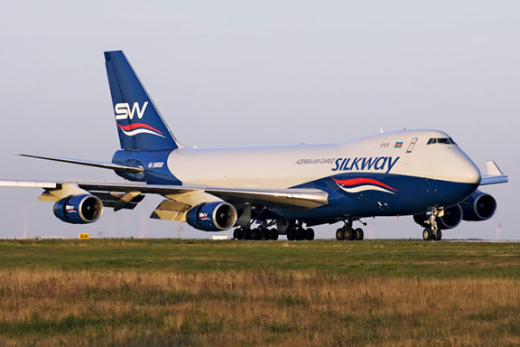A Silk Way Airline plane