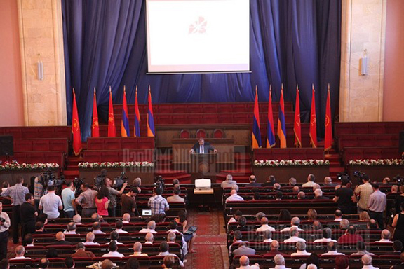 A scene from the ARF World Congress held in Armenia in 2011