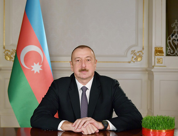 President Ilham Aliyev of Azerbaijan gives a national address on Norouz