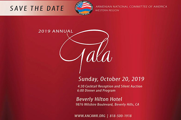 The ANCA-WR 2019 Gala will take place on Sunday, October 20