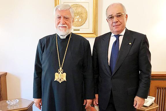 Catholicos Aram I with Harry Nadjarian