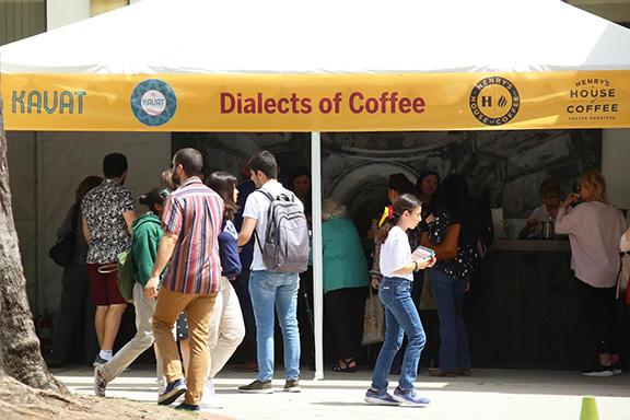 """Dialects of Coffee"" at Innovate Armenia. Photo courtesy of Sargis Bulghadaryan"