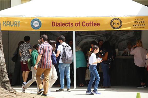 """Dialects of Coffee"" at Innovate Armenia. Photo courtesy of Sargis Bulghadaryan"