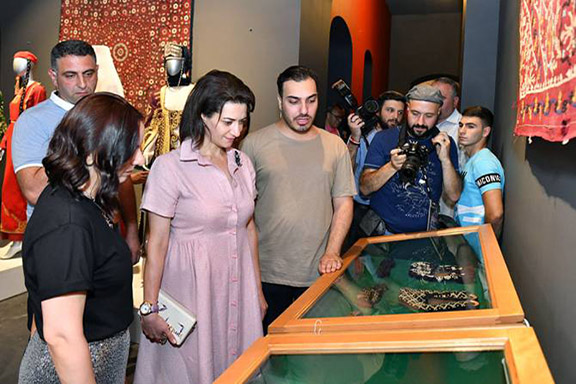 Prime Minister Nikol Pashinyan's wife, Anna Hakobyan attends the grand opening of Fashion Forum Yerevan 2019
