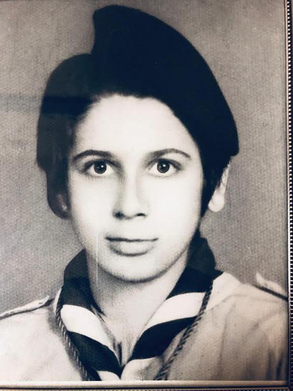 Garo Eshgian as a young Homentment scout