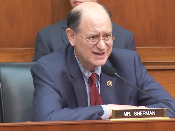 Rep. Brad Sherman's amendment to the National Defense Authorization Act (NDAA) would block the sale to Azerbaijan of U.S. armaments which could augment that country's ability to shoot down civilian aircraft.