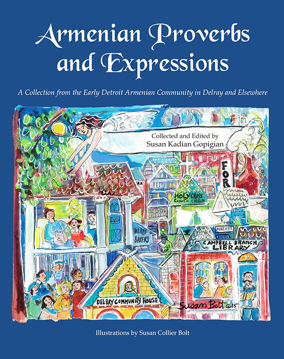 "The cover of Susan Kadian Gopigian's ""Armenian Proverbs and Expressions"""
