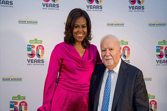 Vartan Gregorian with former First Lady Michelle Obama