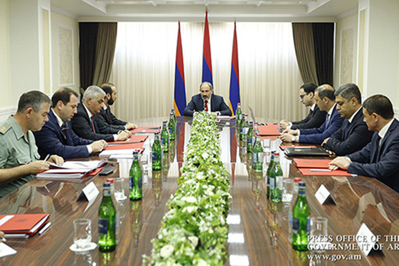 Prime Minister Nikol Pashinyan chairs a meeting of Armenia's National Security Council on June 24