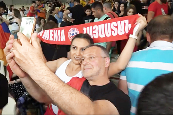 View Gallery: Fans traveled from around Europe to cheer for Armenia