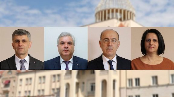 The slate of ARF candidates in Artsakh running for president and parliament