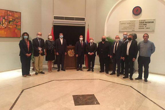 High Commissioner for Diaspora Affairs Zareh Sinanyan met with Armenia media representatives
