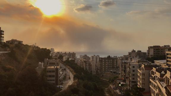 The Beirut sky (Photo by Shahen Araboghlian)