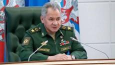 Russia's Defense Minister Sergey Shoygu