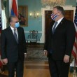 Foreign Minister Zohrab Mnatsakanyan meets with Secretary of State Mike Pompeo in Washington on Oct. 23