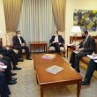 Armenia's Foreign Minister Zohrab Mnatsakanyan meets with Iran's Deputy Foreign Minister Abbas Araghchi
