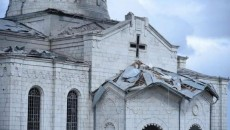 VIEW GALLERY: The Surp Ghazanchetsots Church in Shushi was damaged by Azerbaijani attack