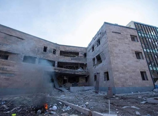 Stapankert's Maternity Hospital was destroyed by Azerbaijani attacks in October 2020