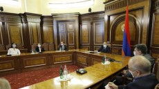 Prime Minister Nikol Pashinyan held a meeting with Armenia's opposition parties on Oct. 12