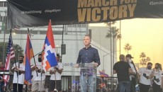 Rep. Adam Schiff speaks during the Oct. 11 March for Victory in Los Angeles