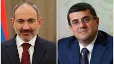 Prime Minister Nikol Pashinyan and Artsakh President Arayik Harutyunyan