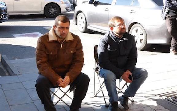 ARF members Garik Avetisyan (left) and Gegham Manukyan began an indefinite hunger strike on Nov. 23