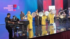 A scene from the Armenia Fund Thanksgiving Day Telethon