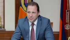 Defense Minister Davit Tonyan resigned on Nov. 20