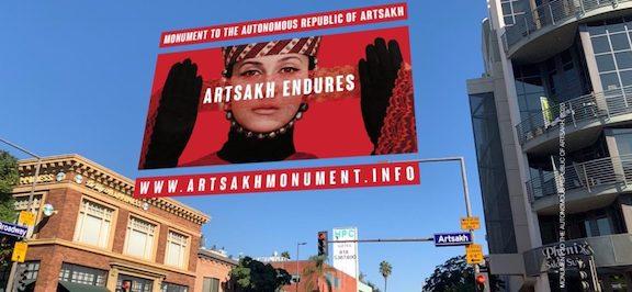 """""""Artsakh Endures,"""" augmented reality monument on Glendale's Artsakh Street"""