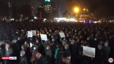 Opposition protesters demanded Nikol Pashinyan's resignation on Nov. 18