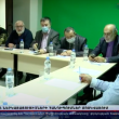 ARF Bureau president Armen Rustamyan leads a discussion during a visit to Moscow