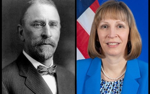 """U.S Ambassador Henry Morgenthau and current U.S. Ambassador to Armenia Lynne Tracy who recently was assigned an """"F"""" grade by the ANCA for her failed tenure at U.S. Embassy - Yerevan"""