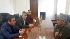 View Gallery: ARF leaders Ishkhan Saghatelyan and Davit Ishkhanyan meet with Artsakh National Security Chief Vitaly Balasanyan