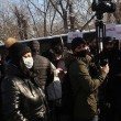 National Salvation Movement supporters protest in front of parliament on Jan. 22