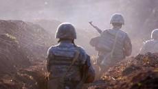Artsakh soldiers on the battlefield