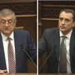 Gagik Jahangiryan (left) and Davit Khachaturyan were installed as new members of Armenia's Supreme Judicial Council