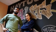 Haytoug Talks co-hosts Haig Minasian and Krista Marina Apardian