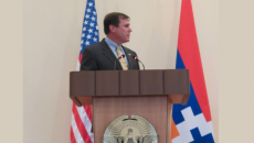 Scott Wilk addresses the special session of Artsakh Parliament during the 2013 ANCA Western Region-led delegation visit.