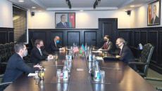 U.S. Ambassador to Azerbaijan EarleLitzenberger meets with Azerbaijan's Economy Minister Mikayil Jabbarov