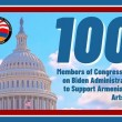 100 Members of the U.S. House of Representatives from over 20 states called on Secretary of State Tony Blinken and Secretary of Defense Lloyd Austen to support Artsakh security and Armenia safety in an ANCA-backed letter led by the Congressional Armenian Caucus.